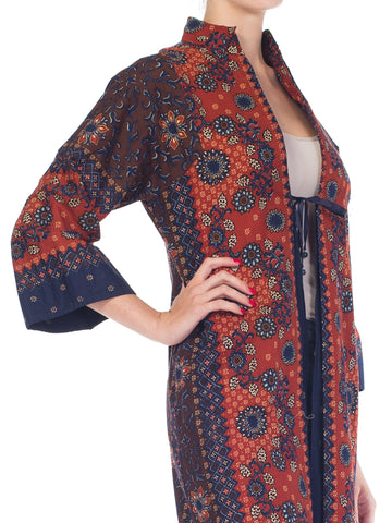 1970S South East Asian Batik Print Imagnin Duster