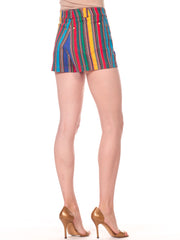 Gianni Versace Rainbow Striped Shorts
