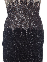 1950s Black and Silver Sequin Cocktail Dress owned by Vivenne Della Chiesa