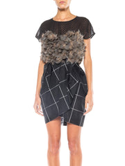 Very Finely Made Feathered Geoffrey Beene Dress