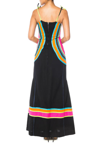 Sexy Bright Cotton Dress with Embroidery