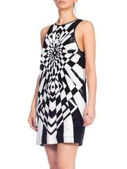 Emilio Pucci Deadstock Beaded Op-Art Silk Dress NWT