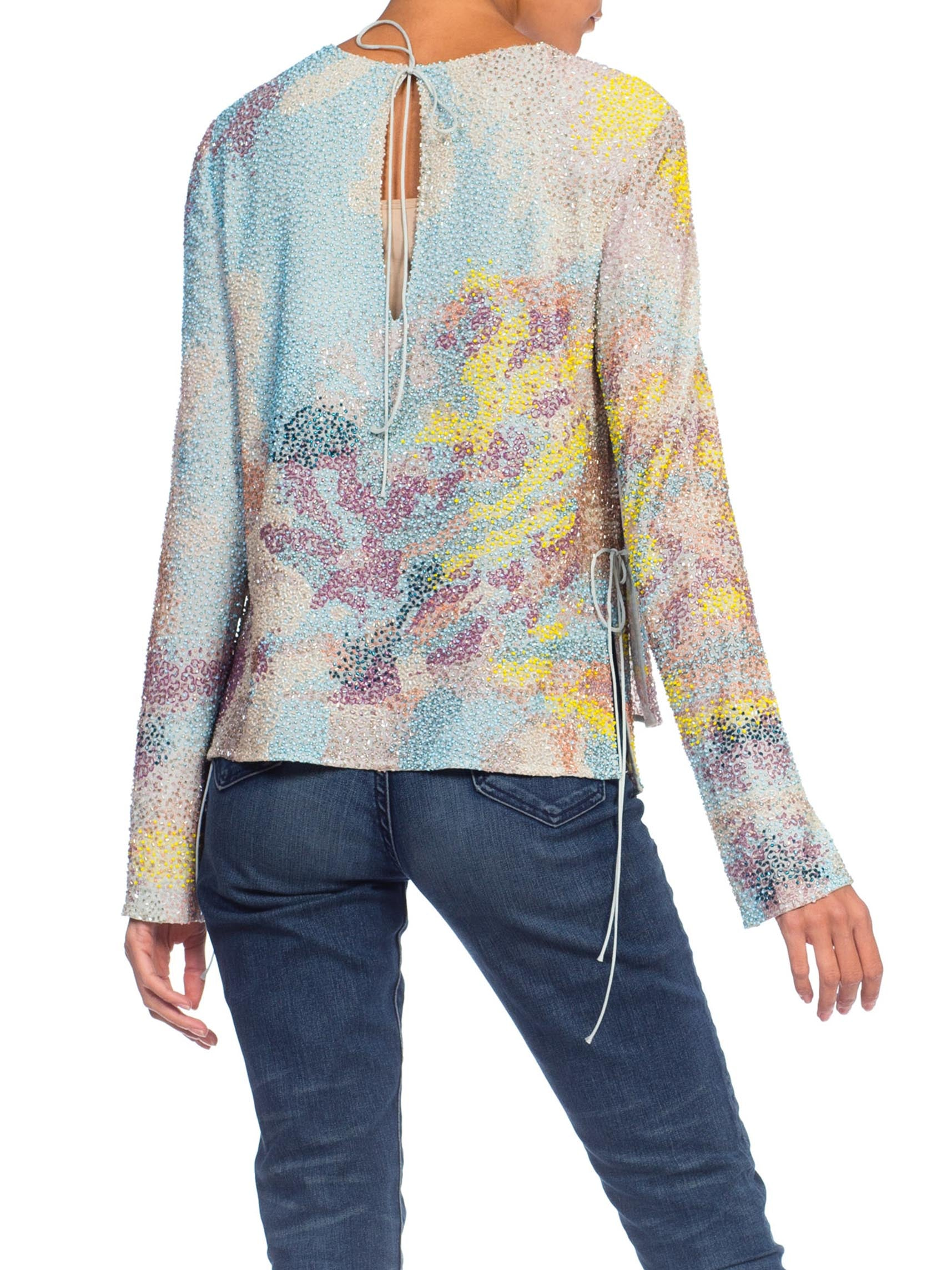 PUCCI Pastel Beaded Top