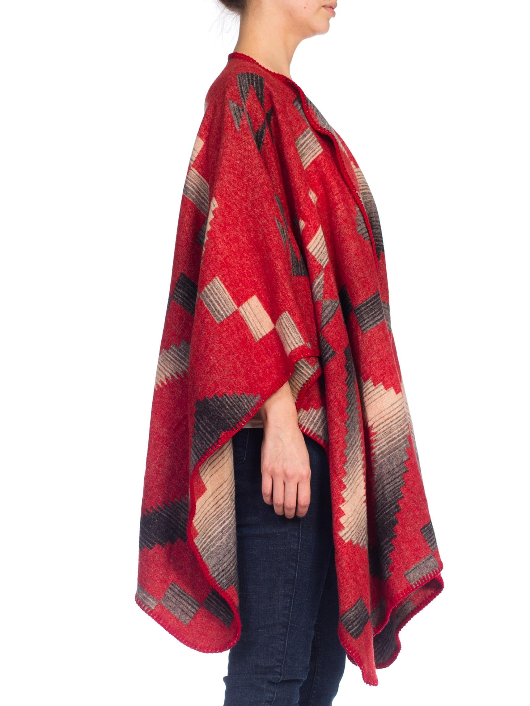 Native American Navajo Blanket Poncho Wool Cape – MORPHEW