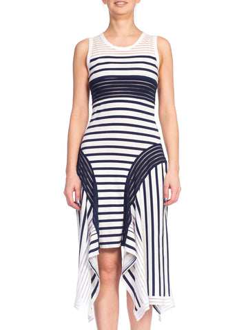 Deadstock Jean Paul Gaultier Sheer Stripe Cotton Jersey Dress