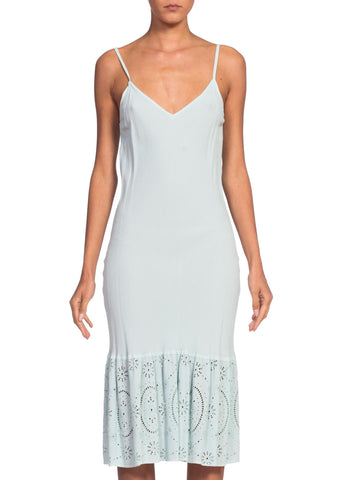 1990's Kate Moss Mint Slip Dress by Ghost