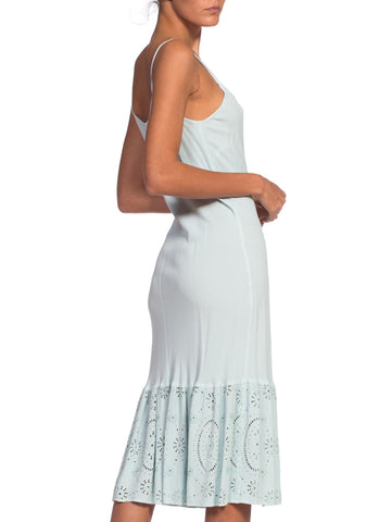 1990'S Ghost  Kate Moss Style, Mint Colored Slip Dress By