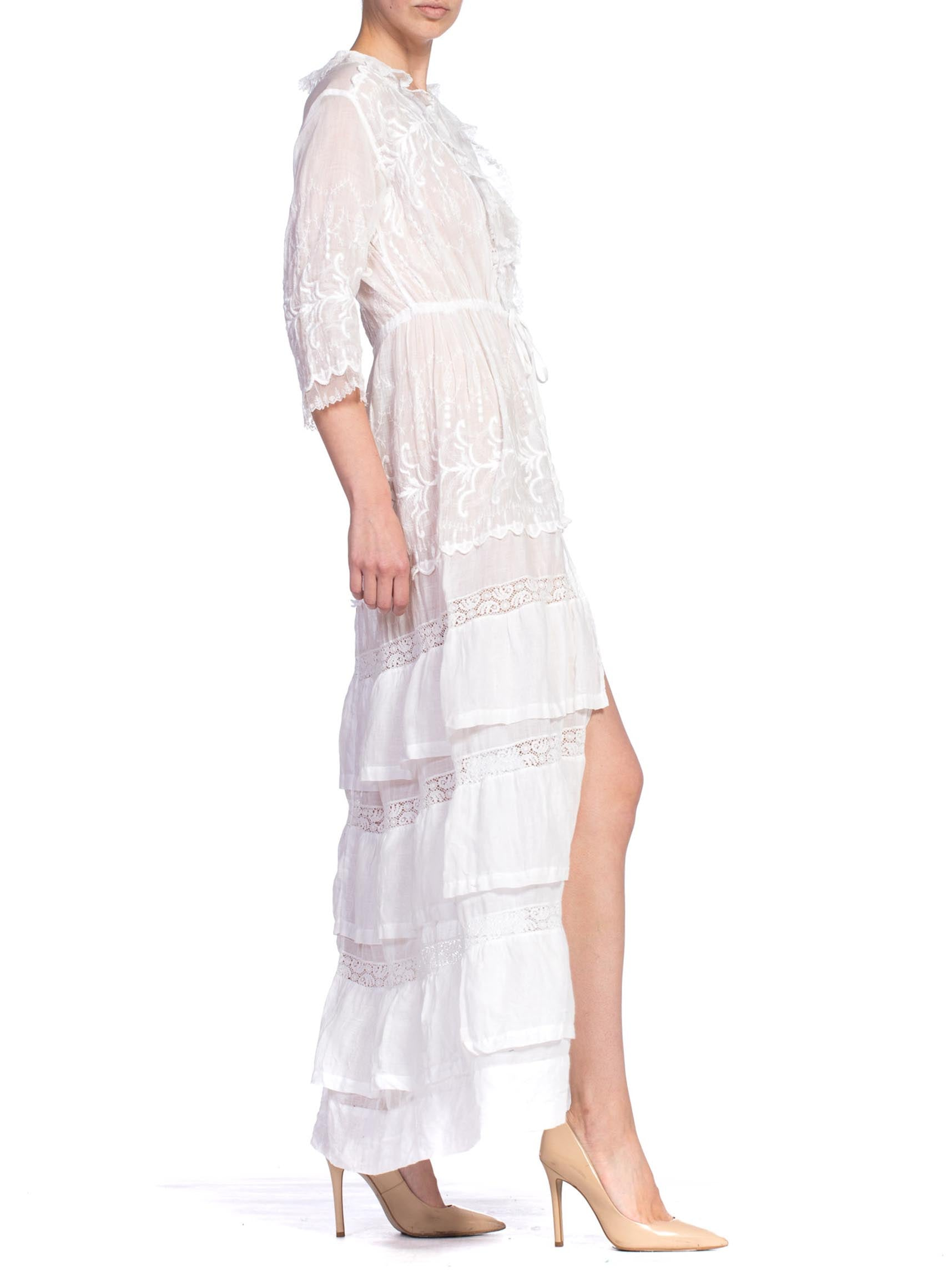 Morphew Collection 1910'S  White Lace Dress