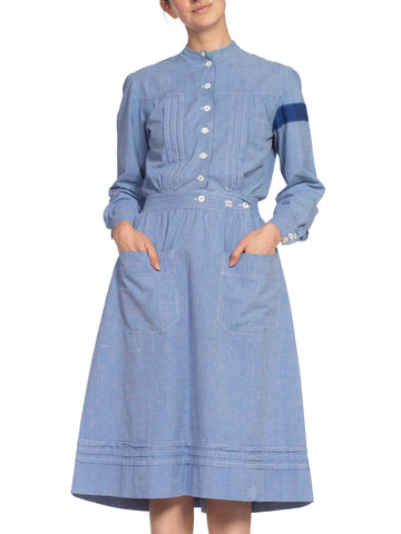 1910's Cotton War Nurse Dress