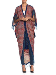 Cocoon Duster Kimono Made From An 1890'S Victorian Wool Paisley Shawl