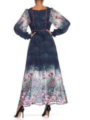 1970's Flowy Floral Boho Dress from Belgium