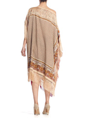 Morphew Kaftan Made From 1970'S Paisley Fringed Shawls