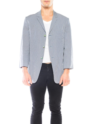 Men's Vivienne Westwood Striped Cotton Blazer
