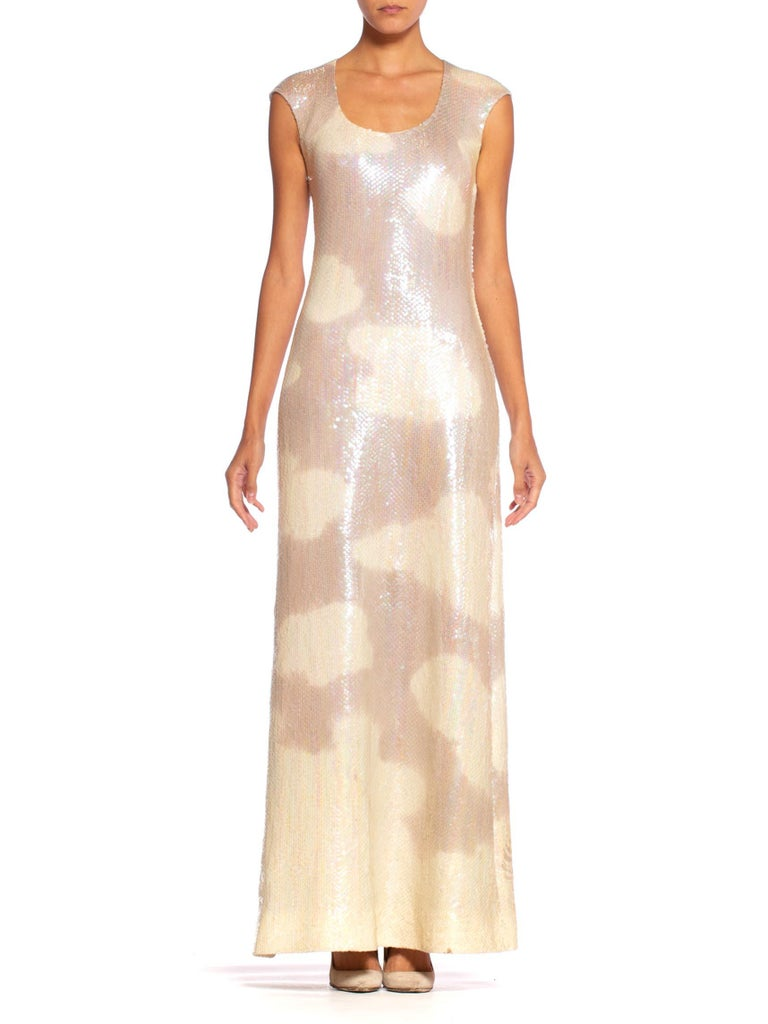 Iconic 1970's Halston Sequin Cloud Dress