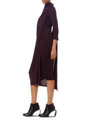 1990's Haider Ackermann Deep Plum Dress