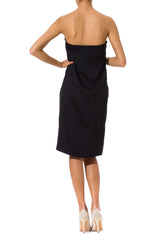 Elegant Vintage Jil Sander 1980's Black Cocktail Dress