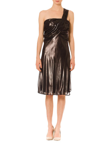 Vintage 1990s Krizia Metallic Cocktail Dress