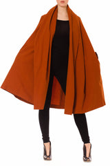 ROMEO GIGLI Orange Riding Hood Cape