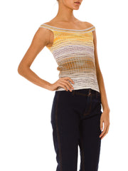 1990s Sporty Strip M Missoni Tank Top in Earth Tones