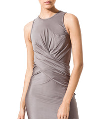Alexander Wang Tight Sliky Grey Dress
