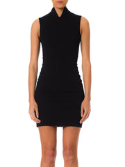 1980s Alaia Black Knit Bodycon Mini Dress