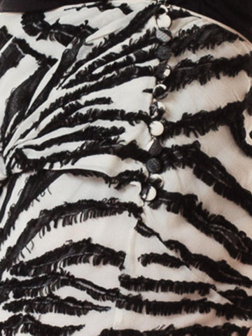 1990S JOHN GALLIANO Bias Cut Silk Fil Coupé  Zebra Skirt