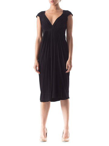 Donna Karan Draped Jersey Dress