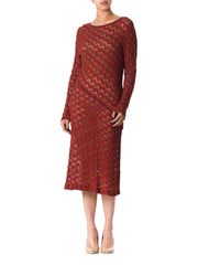 1970s Missoni Silk Knit Dress with Slit