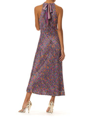1970s Amy Michelson for Holly Harp Tie Dye Halter Dress