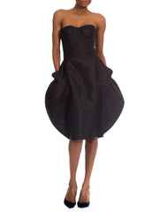 Sassy Black Silk Vintage Dolce and Gabbana Strapless Party Dress