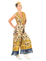 Georgie Keylan Golden Embroidered Jumpsuit