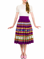 Rare 1950s Seminole Indian Patchwork Skirt