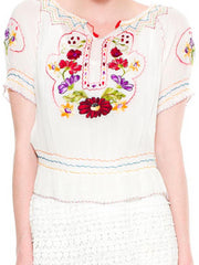 Hand Embroidered Boho Blouse