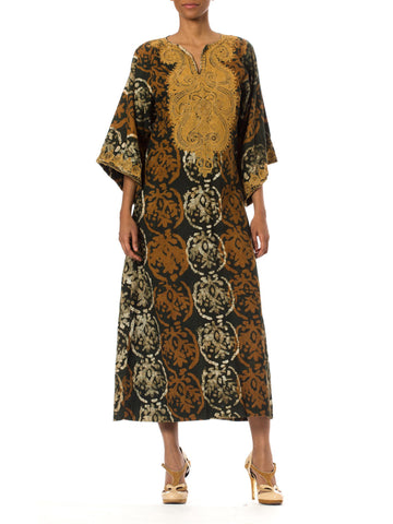 1970's Vintage Embroidered Caftan by Batakali