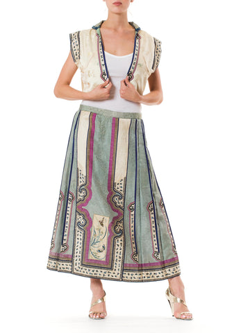 Hand Embroidered Chinese Skirt and Vest