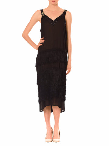 Roaring Silk Chiffon Black Dress