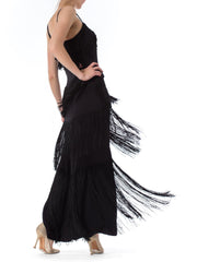 1930s Gown with Tiered Silk Fringe