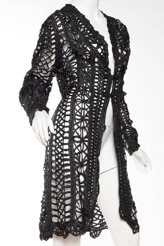 1890S Silk Belle Epoch Ribbon Lace  Jacket