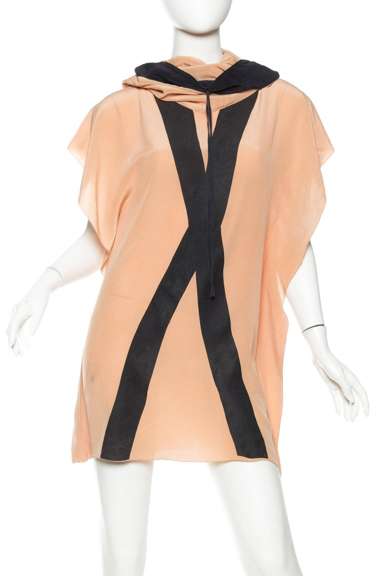 "1990S Jean Paul Gaultier Silk Tunic With ""X"" Screenprint"