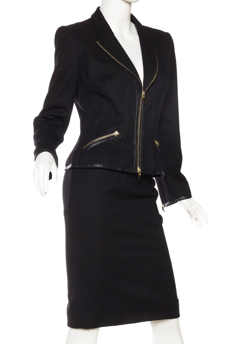 2000S ALEXANDER MCQUEEN Zipper Suit Skirt