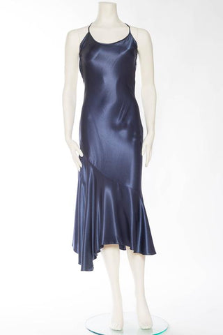 1970s Jon Haggins Backless Bias Cut Dress