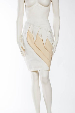 2000S JOHN GALLIANO Working Muslin Sample Skirt From Galliano's Archive