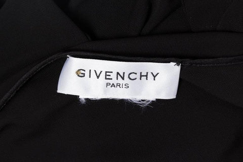 1990S Givenchy Black Spandex Dancer Style Dress With High Slit