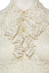 1930S Morphew Collection Lace Backless Spider Dress With Train