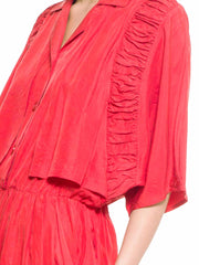 Red Silk Jumper