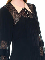 Classic 1940s Black Lace Dress