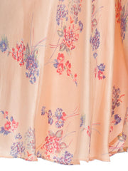 1930s Light Pink Floral Bias Cut Silk Nightgown Lingerie