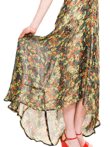 Morphew Collection Gold Lamé Silk Gown Made From Vintage 1930S Fabric