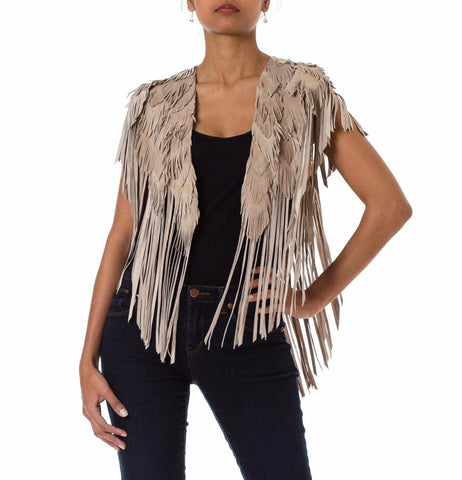 Sandy Feather Leather 1970s Inspired