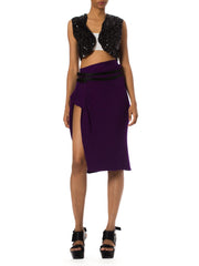 1990s Purple Jean Paul Gaultier Knit Skirt
